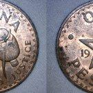 1967 Ghana 1 Pesewa World Coin - Africa