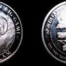 North American Hunting Club 1 Oz .999  Silver Round Bighorn Sheep