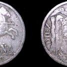 1940 Spanish 10 Centimos World Coin - Spain