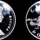 1984 Proof Canadian Silver Dollar World Coin - Canada Toronto 50 Yr Anniversary