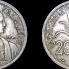 1939 French Indochina 20 Cent World Coin - Vietnam