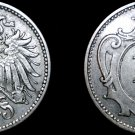1895 Austrian 10 Heller World Coin - Austria