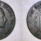 1879 Spanish 10 Centimos World Coin - Spain