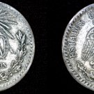 1934 Mexican 20 Centavo World Silver Coin - Mexico