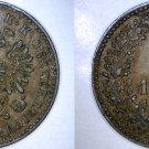 1858-B Austrian 1 Kreuzer World Coin - Austria
