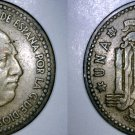 1953 (61) Spanish 1 Peseta World Coin - Spain Caudillo
