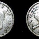 1940 New Zealand 3 Pence World Silver Coin