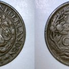 1941 Netherlands 1 Cent World Coin
