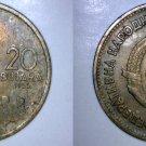 1955 Yugoslavia 20 Dinara World Coin
