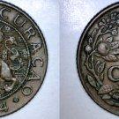 1944-D Curacao One Cent World Coin