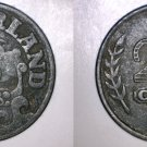 1942 Netherlands 25 Cent World Coin