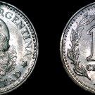 1957 Argentina 10 Centavo World Coin