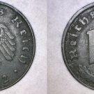 1942-D German 10 Reichspfennig World Coin -  Germany 3rd Reich