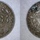 1938 Netherlands East Indies 1 Cent World Coin