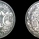 1918 French 25 Centimes World Coin - France