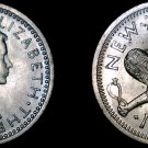 1962 New Zealand 3 Pence World Coin