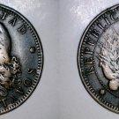 1890 Argentina 2 Centavo World Coin