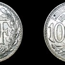 1939 French 10 Centimes World Coin - France