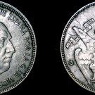 1957 (62) Spanish 5 Peseta World Coin - Spain