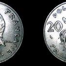1977 French Polynesia 20 Franc World Coin