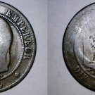 1864-BB French 10 Centimes World Coin - France
