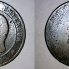 1857 French 10 Centimes World Coin - France