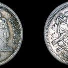 1881 Guatemalan 25 Centavo World Silver Coin - Guatemala - Holed