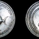 1971 Singapore 5 Cent World Coin - Pomfret Fish