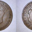 1943 British Honduras 1 Cent World Coin