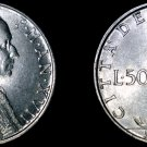 1955 Vatican City 50 Lire World Coin - Catholic Church Italy
