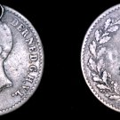 1849 Netherlands 10 Cent World Silver Coin - Holed