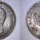 1874-A Greek 50 Lepta World Silver Coin - Greece - Holed