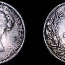 1875 Great Britain 6 Pence  World Silver Coin - UK - England - Mount Removed