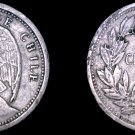 1928 Chilean 10 Centavo World Coin - Chile - Vulture - Holed