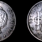 1893(93)-PG L Spanish 1 Peseta World Silver Coin - Spain - Plugged