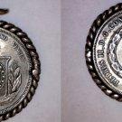 1865 Brazilian 500 Reis World Silver Coin - Brazil - Mounted in Bezel