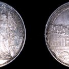 1876 Switzerland Lausanne 5 Franc World Silver Coin
