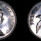 1974 Falkland Islands 5 Pence World Coin - Albatross
