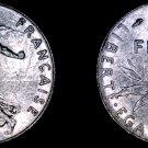 1974 French Half (1/2) Franc World Coin - France