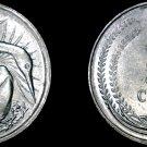 1982 Singapore 5 Cent World Coin - Snake Bird