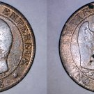 1856-BB French 5 Centimes World Coin - France