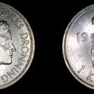 1975 Danish 1 Krone World Coin - Denmark