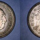 1963 (63) Spanish 1 Peseta World Coin - Spain Caudillo