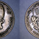 1956 French West Africa 10 Franc World Coin