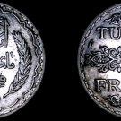 1936 (AH1355) Tunisian 5 Franc World Silver Coin - Tunisia