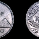 1900-H Guatemalan Quarter 1/4 Real World Coin - Guatemala