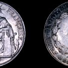 1937 French Indo-China 20 Cent World Silver Coin - Vietnam