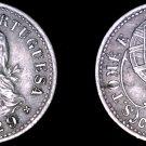 1929 Saint Thomas & Prince Island 10 Centavo World Coin