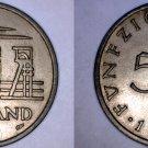 1954 Saarland 50 Franken World Coin