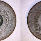 ND (1835) Brazilian 40 Reis Counterstruck on 80 Reis World Coin - Brazil